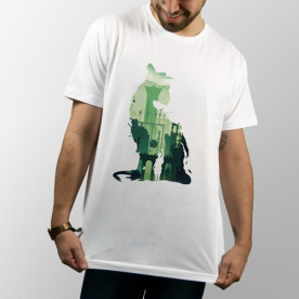 "Camiseta videojuego para PS4 ""The Last Guardian"" de manga corta unisex"