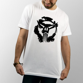 Camiseta para chico y chica de manga corta con dibujo de The Punisher de Marvel