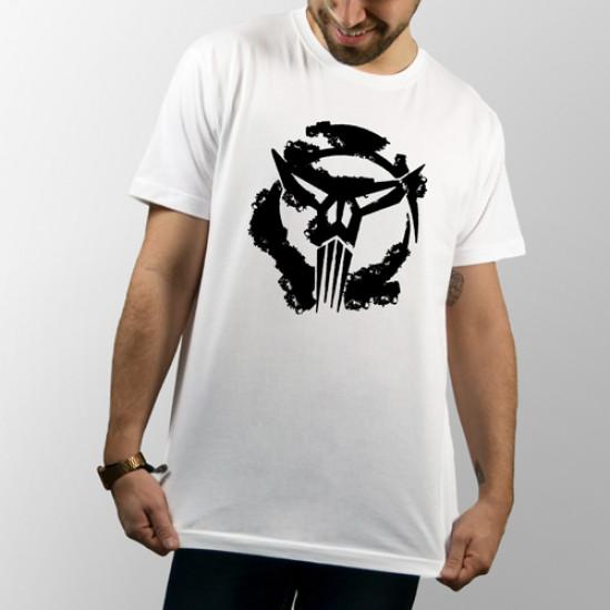 Camiseta para chico y chica de manga corta con dibujo de The Punisher de Marvel