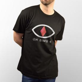 "Camiseta negra de manga corta de ""GH Sims 4"" del youtuber Uy Albert!"