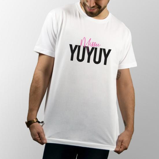 Camiseta de manga corta con logo del youtuber Uy Albert! de la línea Missu Yuyuy