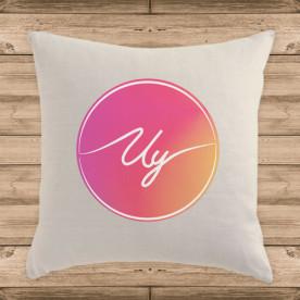 Cojín con logo del youtuber Uy Albert! (RELLENO INCLUIDO)