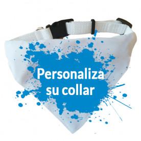 Collar para perro con bandana de color blanco con el diseño que tu elijas. Inspírate!