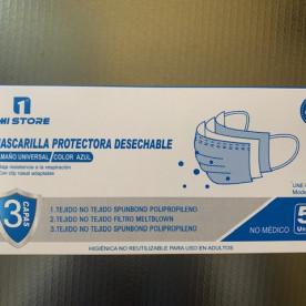 Mascarillas Higiénicas de tres capas (no quirúrgicas). Estas mascarillas no son un equipo de protección individual ni un producto sanitario.