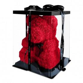 Oso de rosas foam de 40cm con caja de regalo incluida.