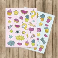 Pack de pegatinas para decorar tu agenda, libros, regalos o lo que más te guste