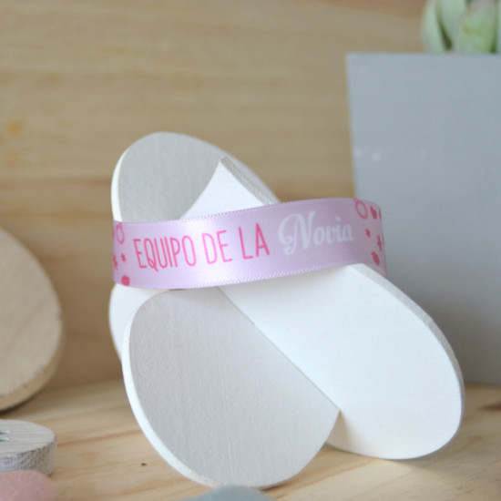 6ac4f2d89492 Pulsera de tela para bodas - Supermolón - Pulseras para invitados ...