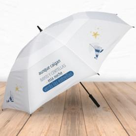 Paraguas antiviento para los días de lluvia con frase divertida