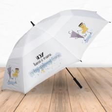 Paraguas antiviento con frase molona