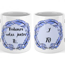 Set de 2 Tazas con frase romántica para hacer un regalo original y romántico a esa persona tan especial.