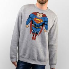 Sudadera para chico y chica unisex con cuerpo de Superman volando