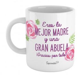Taza para dar las gracias a mamá y a la abuela