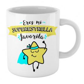 Graciosa taza de cerámica con mensaje positivo, ideal para hacer un regalo original a esa persona tan especial.