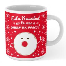 Taza cerámica navideña con frase divertida para hacer un regalo original a tu  amig@