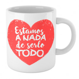Taza cerámica con frase romántica para hacer un regalo original a esa persona tan especial.