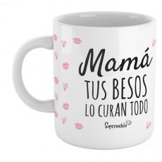 Taza con mensaje para mamá, para decirle que todo lo cura