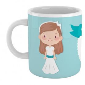 Taza personalizada para comunión de niña