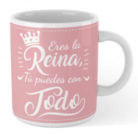 Taza de cerámica con frase súper alegre y motivadora para hacer un regalo original a esa persona tan especial.