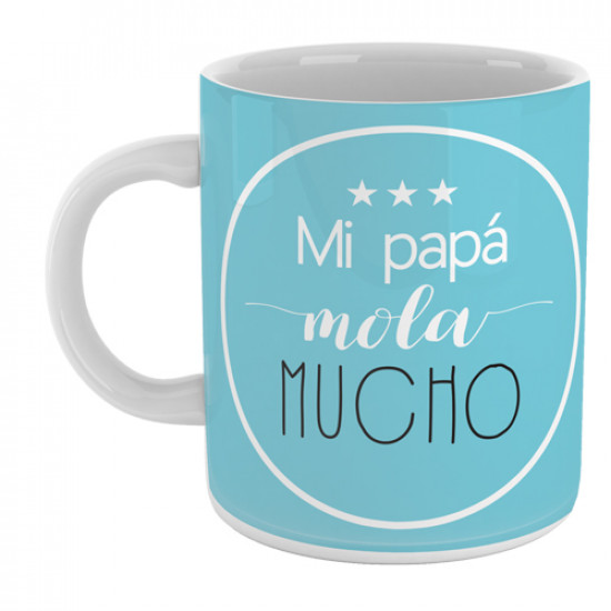 Taza  personalizada con mensaje divertido para hacer un regalo original a los papás.