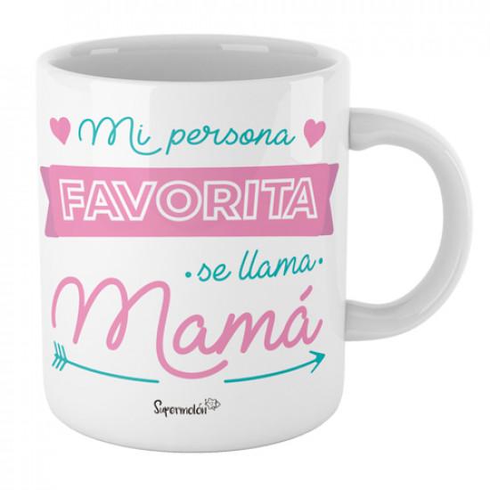 Taza  personalizada con mensaje divertido para hacer un regalo original a mamá.