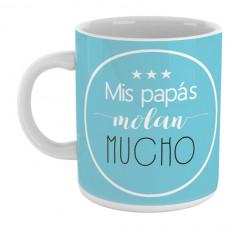 Taza  personalizada con mensaje divertido para hacer un regalo original a los papás y mamás
