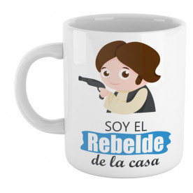 Divertida taza de cerámica con dibujo infantil de Han Solo de Star Wars
