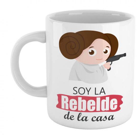Divertida taza de cerámica con dibujo infantil de la princesa Leia de Star Wars
