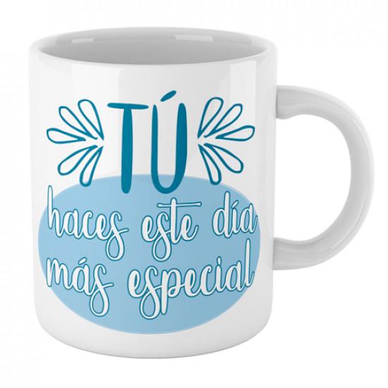 Taza cerámica con frase bonita para decirle a esa persona que es especial.