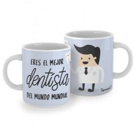 Taza para dentistas. ¡El regalo perfecto para el mejor dentista del mundo mundial! Porque es el responsable de tus mejores sonrisas.