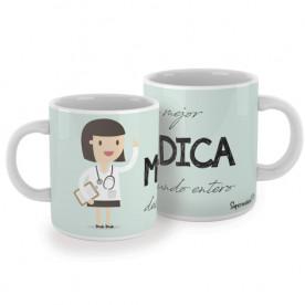 Taza para médicas. ¡El regalo perfecto para la mejor médica del mundo entero! Un gran aliado en las largas jornadas de guardia