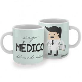 Taza para médicos. ¡El regalo perfecto para el mejor médico del mundo entero! Un gran aliado en las largas jornadas de guardia