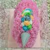Unicornio de rosas foam 40cm con caja de regalo incluida.