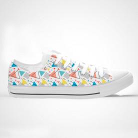 Zapatillas de caña alta con impresión de diseño estilo Memphis