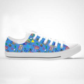Zapatillas impresas de caña alta o baja con diseño de los 80'