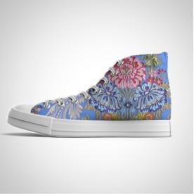 Zapatillas de caña alta con diseño impreso de tela de fallera