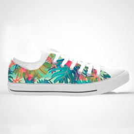 Zapatillas de caña alta o baja con impresión de diseño tropical y muy molón para el verano