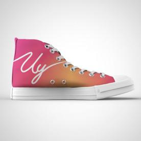 Zapatillas impresas de caña alta con diseño del youtuber Uy Albert!
