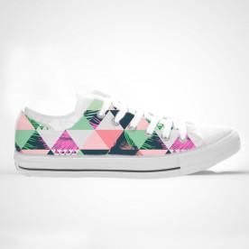 Zapatillas de caña baja o alta con impresión de diseño tropical con tonos pastel
